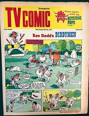 TV COMIC #857 weekly British comic book May 18 1968 Doctor Who in full color