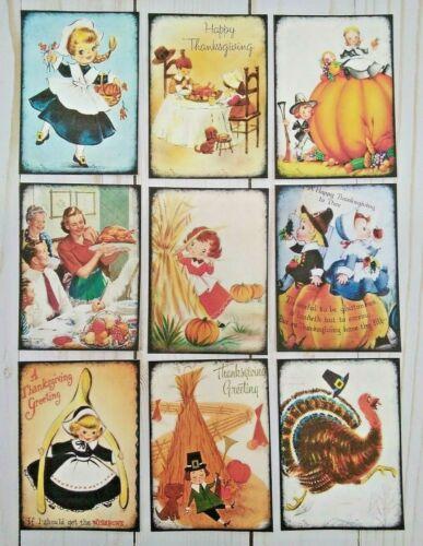 9 Retro Inspired Thanksgiving~Handmade~Pocket Pen Pal Inserts~Scrapbooks~Crafts