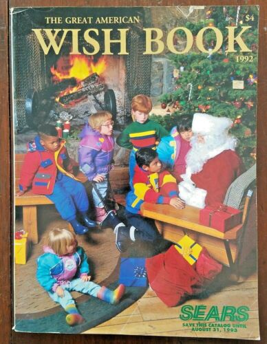 SEARS WISH BOOK ~ 1992 Christmas Catalog ~ Barbie G.I.Joe Super Nintendo Atari