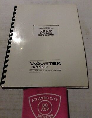 Wavetek Model 904 3.7 To 7.6 Ghz Signal Generator Instruction Manual