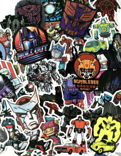 50pc Transformers Prime Autobots Bumblebee Funny Laptop Skateboard Sticker Pack