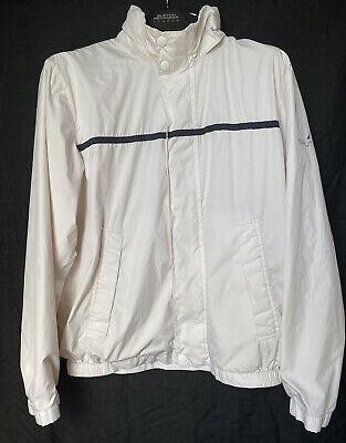 Vintage Nautica White Hooded Windbreaker Jacket Mens Size Medium