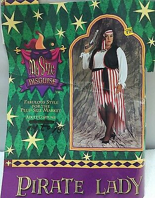 MY SIZE DISGUISE ADULT PLUS SIZE 14-18 WOMEN HALLOWEEN COSTUME PIRATE LADY DRESS (My Size Disguise)