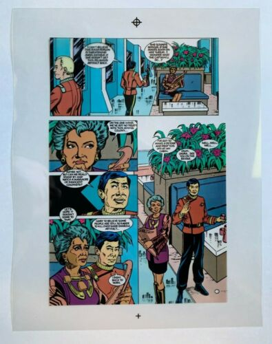 Production Art color STAR TREK #24, page #13, GORDON PURCELL art, 8.5x11