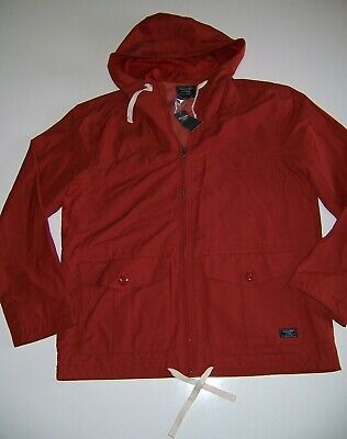 NEW ABERCROMBIE & FITCH Men's Full Zip Spring/summer Rust NWT Jacket L Hoodie
