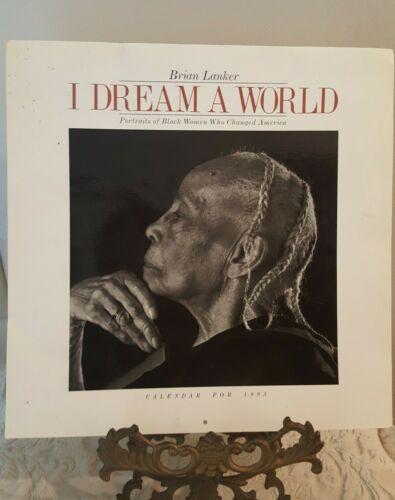 BRIAN LANKER I Dream A World 1993 Wall Calendar 12 B/W Photographic Prints