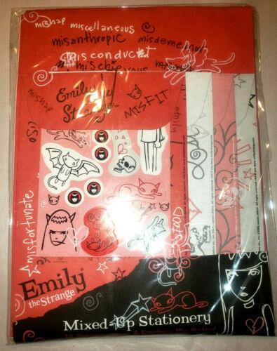 Emily the Strange ESP 2006 NEW Mixed up Stationary 16 Sheets Envelopes Stickers