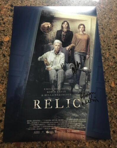 * RELIC * signed 12x18 poster * EMILY MORTIMER, BELLA HEATHCOTE & NEVIN * 2