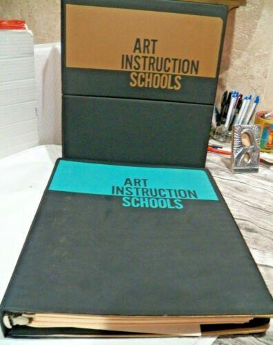 2 - 1968 Art Instruction School From Minneapolis MN. Large Hard Folders / Books