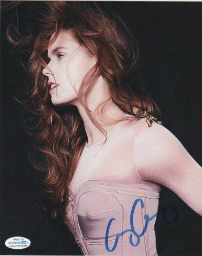 Amy Adams Sexy Autographed Signed 8x10 Photo ACOA 9J7