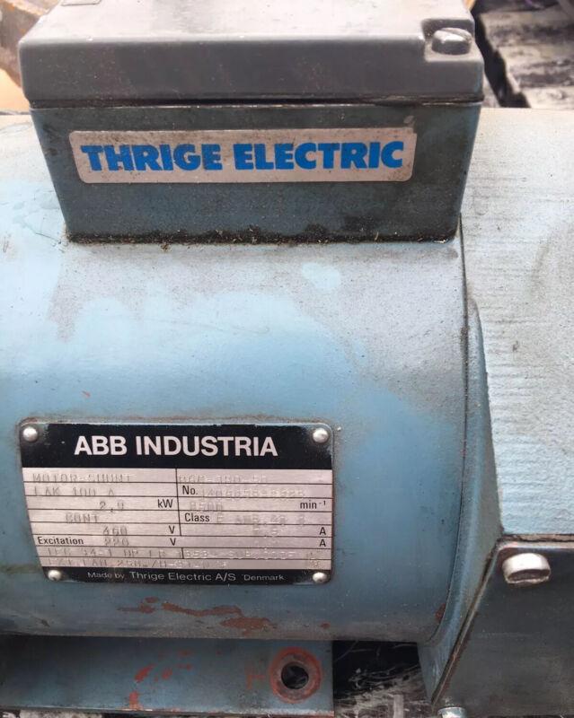 Thrige Electric Motor Shunt LAK 100 A #3406658-9623 (ABB Industria)