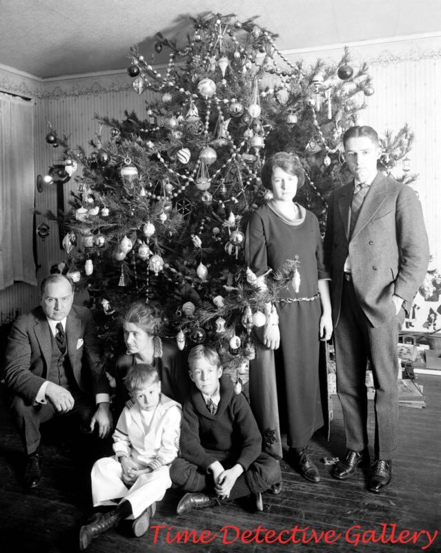 A Washington D.C. Family Christmas - 1922 - Historic Christmas Photo Print