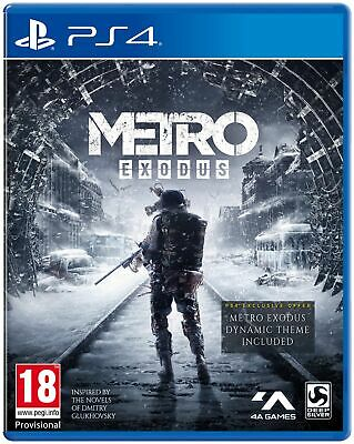 Metro Exodus (PS4) IN STOCK NOW Brand New & Sealed UK PAL Free UK P&P