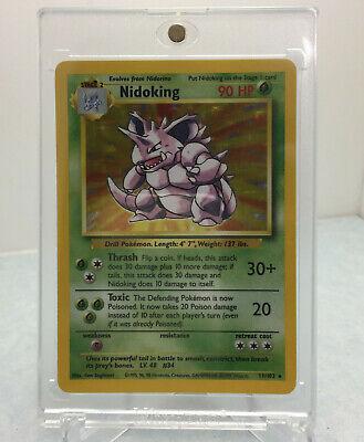 1999 Wizards Pokemon Base Set Unlimited Nidoking 11/102 Holo Rare PSA 9/10? Mint
