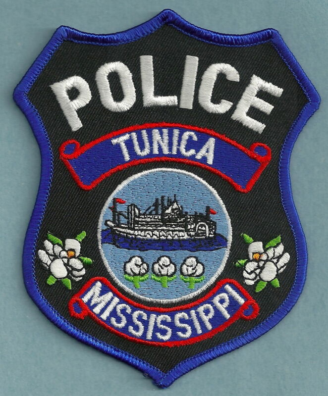 TUNICA MISSISSIPPI POLICE SHOULDER PATCH RIVER STEAMBOAT!