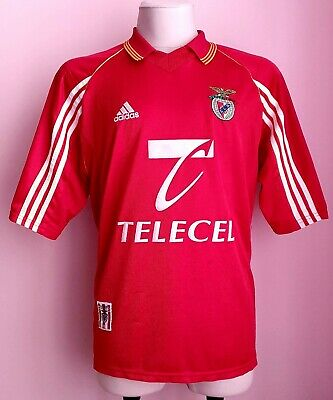 Benfica 1999 - 2000 Home football Adidas shirt size XL image