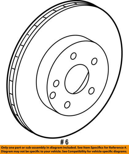 Mercedes Oem 12 15 C250 Front Brake Disc Rotor 2124211312