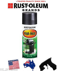 rust oleum high heat spray temperature paint bbq black ebay. Black Bedroom Furniture Sets. Home Design Ideas