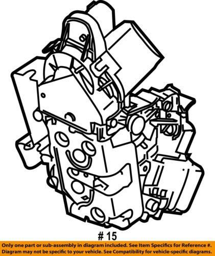 Volvo Oem 10 16 Xc60 Front Door Lock Actuator Motor 31253661