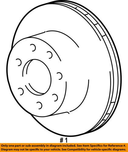 Ford Oem 04 07 E 150 Rear Brake Rotor 4c2z2c026aa