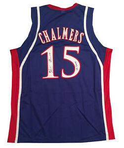 Mario Chalmers Kansas Autographed Signed Basketball Jersey 08 CHAMPS JSA COA
