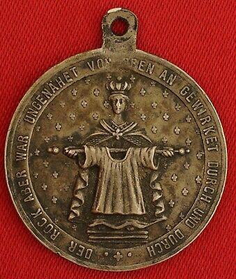 Antique German SAINT HELENA Medal HOLY ROBE OF JESUS TRIER 1891 Religious Medal - Religious Robe