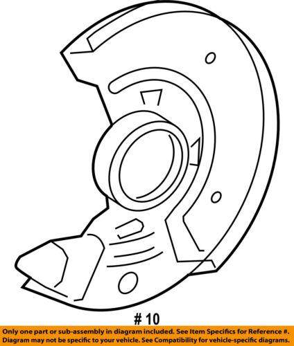Toyota Oem 07 15 Yaris Front Brake Backing Plate 4778152030