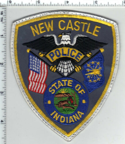 New Castle Police (Indiana) Uniform Take-Off Shoulder Patch from the 1980s