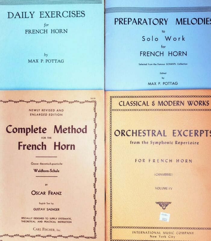 Set 1: Four Classic French Horn Studies: Franz, Pottag, & Chambers
