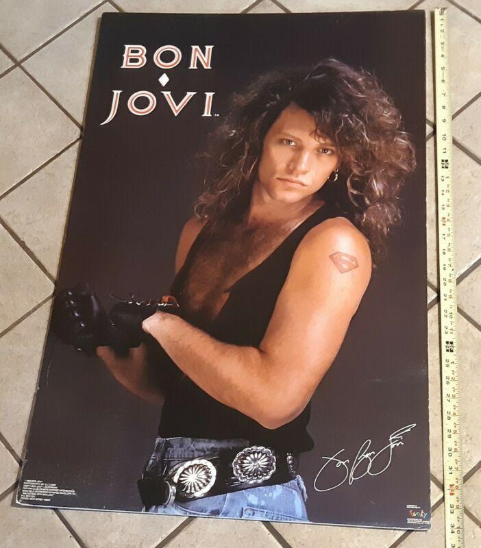 POSTERBOARD!! - Poster JON BON JOVI Superman Tattoo #3227 1989 Funky New Jersey