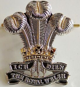 ROYAL WELSH REGIMENT CLASSIC GENUINE REGIMENTAL CAP BADGE