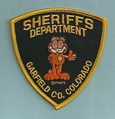 GARFIELD COUNTY SHERIFF COLORADO POLICE PATCH CAT