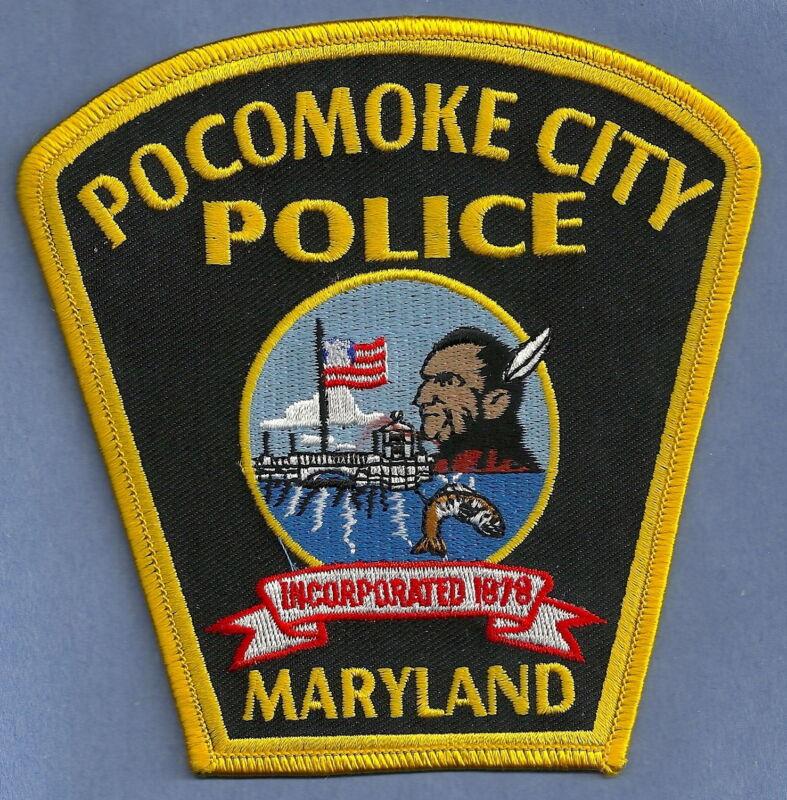 POCOMOKE CITY MARYLAND POLICE SHOULDER PATCH INDIAN!