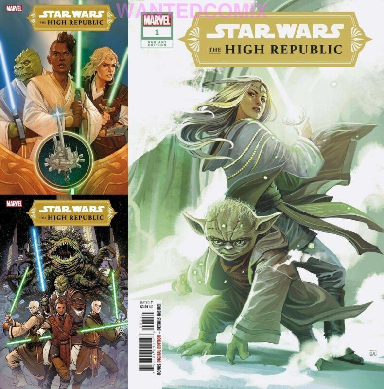 Star Wars High Republic #1 All 3 Cover Hans Variant A & B Comic Lot Set 1/6/2021