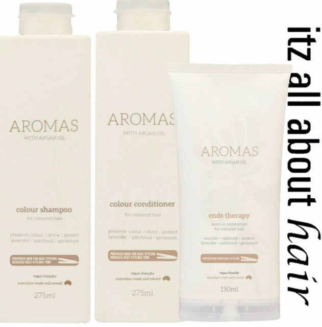 Nak Aromas Colour Shampoom, Conditioner, Ends Therapy Trio Pack Nak Approved