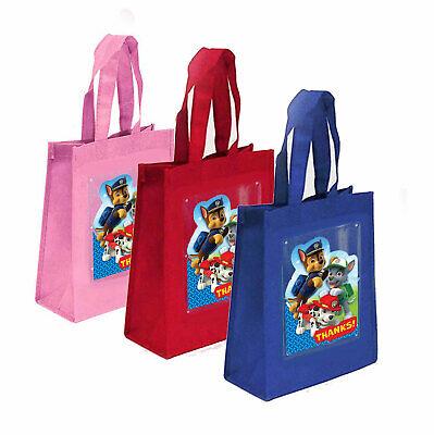 Paw Patrol Birthday Party Favor Treat Goody Bags- Fabric-10