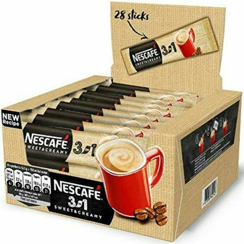 Nescafe 3 in 1 Sweet & Creamy Instant Coffee Single Packets 28x17g