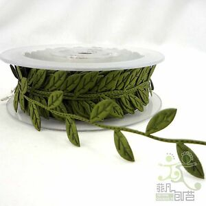 1 meter 6 colors Leaf Leaves Ribbon Sewing craft Lace Trim embellishment U pick