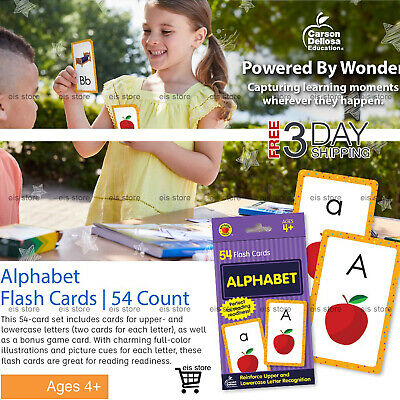 Abc Kids Alphabet Flash Cards Preschool Learning Brighter Child Flashcards Set