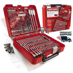 Craftsman 100 pc Accessory Kit Mechanic Tool Set Polished Combo Ratchets Case