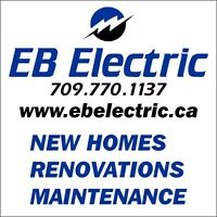 EB Electric - Licensed and Insured Electrician - 709-770-1137