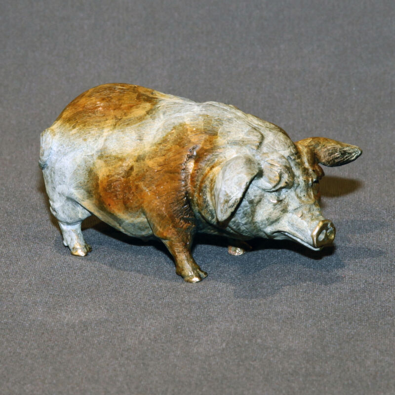 Wonderful Pig Bronze Art Figurine Sculpture Statue Limited Edition Signed Number