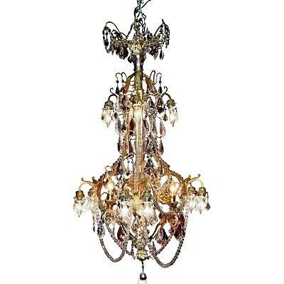 French Napoleon III Style Twelve-Light Crystal Chandelier - Large Twelve Light