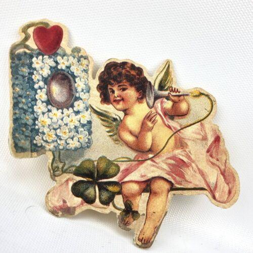 Vtg Cherub St. Valentines Card Hallmark Historical Collection Ephemera Telephone