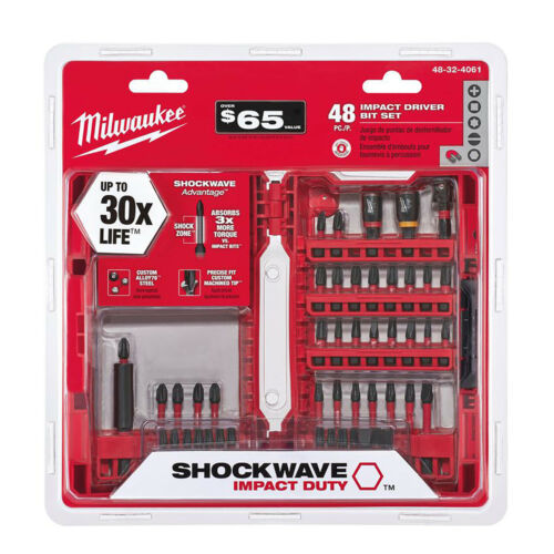 IMPACT DRILL BIT SET Milwaukee Shockwave Driver Tool Hex Dri