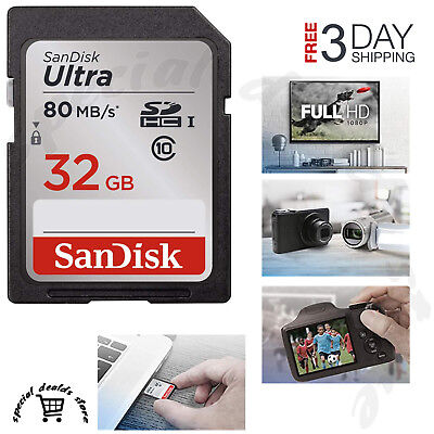 SD Class 10 Storage Memory Card SDHC 32G Ultra UHS-I For Canon Nikon Camera DSLR