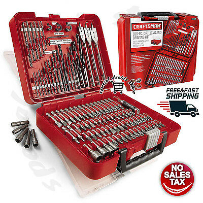 Craftsman 100 pc Accessory Kit Mechanic Tool Set Polished Combo Ratchets Case