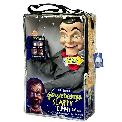 Slappy from Goosebumps Ventriloquist Dummy Doll - New In Case! Glowing Eyes!