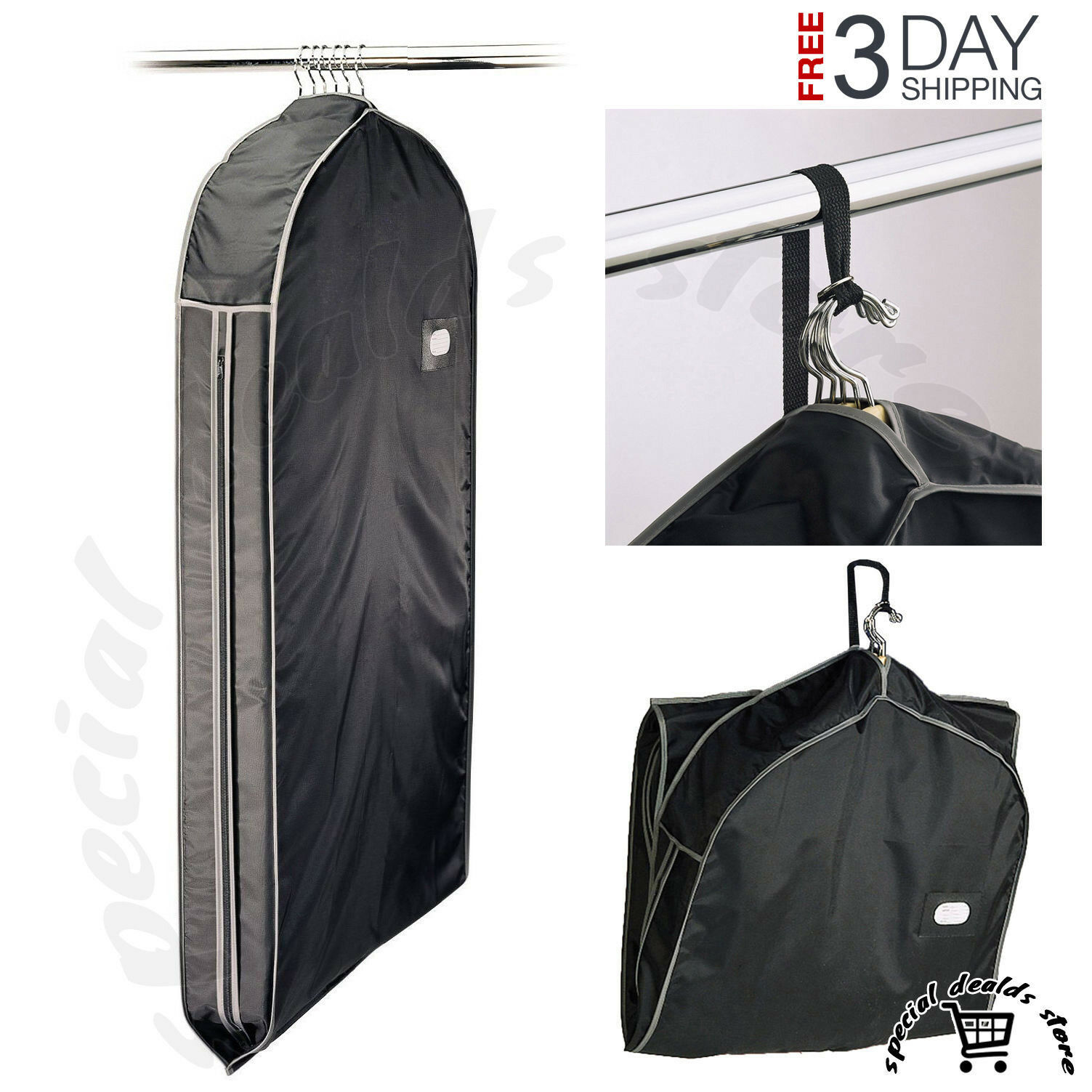 Richards Homewares Travel Five Gusset Suit Garment Cover