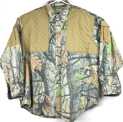 euc Orvis Mens XXL Shoulder Padded Camo 100% Cotton L/S Hunting Shooting Shirt